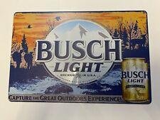 busch light beer Tin sign Hunting Trophy Can Outdoors Budweiser Bucks Man Cave