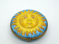 Limoges France Peint Main Trinket Box Sun Face