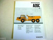 Volvo A35C Articulated Hauler 6x6 Truck Brochure