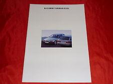 BMW Turbodiesel 3er E36 325 td 5er E34 525td 525tds Prospekt von 1/1993