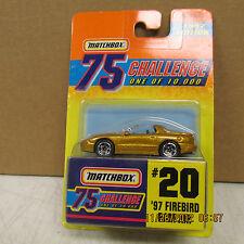 Matchbox 1997 Firebird Ram Air  #20  MOC NICE LQQK!!  Limited Edition
