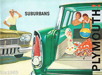 1957?1960 PLYMOUTH SUBURBAN Station Wagon Brochure / Catalog