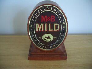 Vintage M&B Mitchells Butler Bar Top Pump Sign Topper Font Pub Beer Advertising