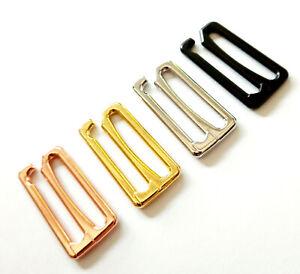 Haken für Bikini Front- bzw Rück-Verschluss für Gurte, Bänder Metallguss 25mm