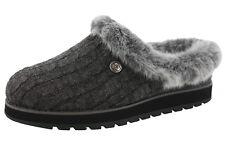 31204 Charcoal Bobs Skechers Shoes Women Plush Foam Slipon SLIPPER Faux Fur  Clog 8.5