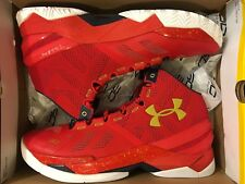 NEW UNDER ARMOUR CURRY 2 RED FLOOR GENERAL SHOES STEPH 1259007-601 MEN SIZE 11