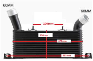 Intercooler For Mitsubishi Pajero NS NT NW NX 3.2L Turbo Diesel 06-15 Direct Rep