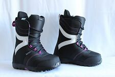 WOMENS BURTON COCO WINTER SNOWBOARD BOOTS BLACK AND PURPLE (SIZE US 9 MONDO 26)