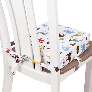 Toddler Booster Seat for Dining Table, Double Straps Washable Portable Booster