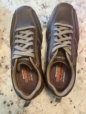 Brand New Men's Skechers Relaxed Fit Air Cooled Memory Foam Brown Size 9