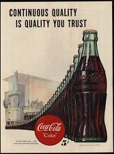 1947 COCA-COLA Bottling Factory Machine - 5 Cent Coke Bottles - Art - VINTAGE AD
