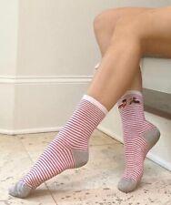 Stinky Women stripe red women socks