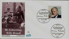 """BRD FDC MiNr 1706 (2) """"80. Geburtstag von Willy Brandt"""" -Politiker-Nobelpreis-"""