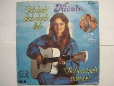 NICOLE 45 TOURS HOLLANDE IK HOU TOCH VAN JOU