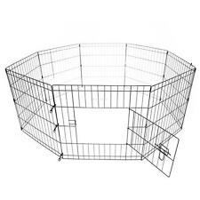 "36"" 8 Panels Pet Dog Cage Pig Playpen Exercise Crate Enclosure w/ Door"