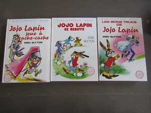 JOJO LAPIN / 3 TITRES  / bibliotheque  rose  TBE