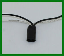 """Bullet Style Plug Pigtail Connector with 12"""" Long Continuous Wiring Harness"""