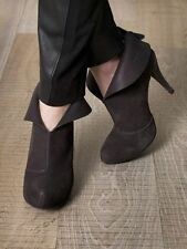 PEDRO GARCIA SHOES BELKIS ANKLE BOOTS BLACK SUEDE PLATFORM CUFF BOOTIES 37 $540