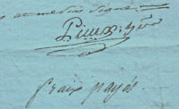 1816 manuscript freemasson notary signature document handwritten DAMAGED stamps