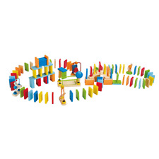 Hape Dynamo Dominoes Kids Colorful Wooden Trail Building Learning Toy Game Set