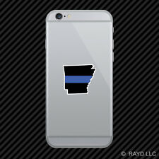 Arkansas State Shaped The Thin Blue Line Cell Phone Sticker Mobile police AR