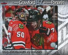 Corey Crawford & Artemi Panarin Dual signed Chicago Blackhawks 8 x 10 Photo