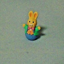1994 Hallmark Easter Merry Miniatures Bunny With Pink Bow Tiw
