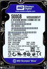 WESTERN DIGITAL SATA 500GB WD5000BEVT-11ZAT0,  HHCVJHBB
