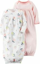 Carter's Baby Infant Girls 2-PK Sleeper Gown Sleep Bag Floral Print One Size NWT