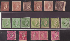 18 OLD STAMPS of LARGE HERMES HEADS ,GREECE