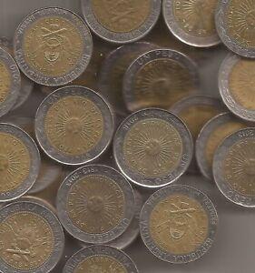ARGENTINA 50 MONEDAS DE 1 PESO 1994-2016 KM 112
