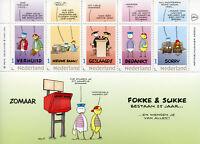 Netherlands 2018 MNH Fokke & Sukke 25 Years 5v M/S I Greetings Cartoons Stamps