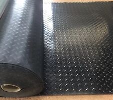 RUBBER CHECKER PLATE FLOORING/MATTING W 1 M X L15 METRES x 3mm Thick ENTIRE ROLL
