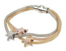 Gold Copper Magnetic Closure Star Ella Jonte Bracelet Stars Tricolore Silver