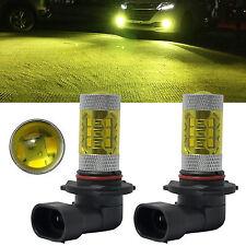 2x 9006 HB4 LED Fog Lights 60W Samsung 2323 4300K Yellow Projector DRL Bulbs