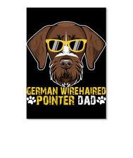 German Wirehaired Pointer Dad Gift Sticker - Portrait