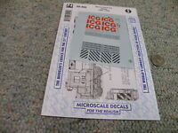 Microscale decals N 60-402 Illinois Central Gulf diesels    M162