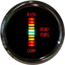LED Digital AIR/FUEL RATIO GAUGE Chrome Bezel Dash Air Fuel Bargraph Warranty US
