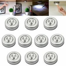 10pcs 3 LED Touch push on/off Light self-stick on click battery operated lights