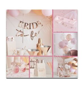 Pink Rose Gold Team Bride To Be Hen Party Accessories Decorations Games Favours