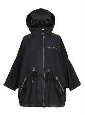 SANDRO Anorak Parka Jacket in Black Size 40 Large L