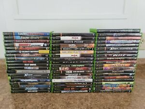 58 Original Xbox Game Lot-far Cry-star Wars-tony Hawk-doa-plus