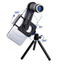 8x Universal Phone Telephoto Zoom Lens+90° Tilt Mini Tripod Stand for iPhone