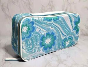 60 x ESTEE LAUDER BLUE FLOWERS IN WAVE COSMETIC TRAVEL CASE BAG 10*5*2.5 INCH
