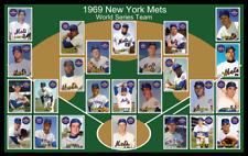 1969 NEW YORK METS Baseball Card POSTER Art Artwork Decor Fan Xmas Gift 69 NY
