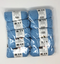 NIB Lion brand Acrylic 4 ply yarn 10 Skeins per bag 650 yards Color SKY.