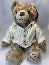 F.A.O. Schwarz Brown Bear With Sweater New With Tags