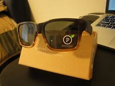 $169 Shwood haystack sweet tea elm grey polarized sunglasses NEW made in usa