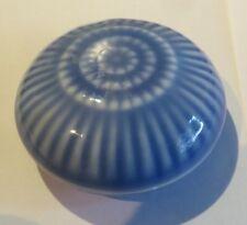 Boite à bijoux ronde en porcelaine bleu et blanc