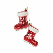 "RAZ  Christmas Ornament Glass 7"" BOOTS Ornament"